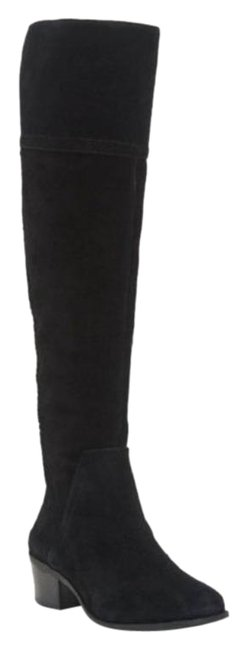 Vince Camuto Black Bendra Over The Knee Tall Riding Boots/Booties Size US 6.5 Regular (M, B) Vince Camuto Black Bendra Over The Knee Tall Riding Boots/Booties Size US 6.5 Regular (M, B) Image 1
