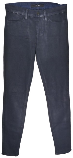 Item - Black Coated Clean Power Stretch Denim In Navy Cool Skinny Jeans Size 25 (2, XS)