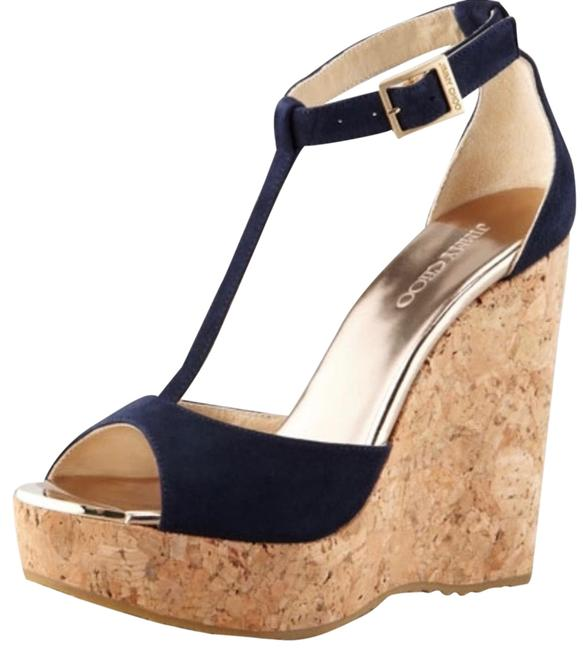 Item - Blue Suede Pela Cork Ankle Strap Wedges Size EU 40 (Approx. US 10) Regular (M, B)