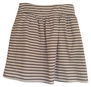 The Limited Skirt Navy and white stripe