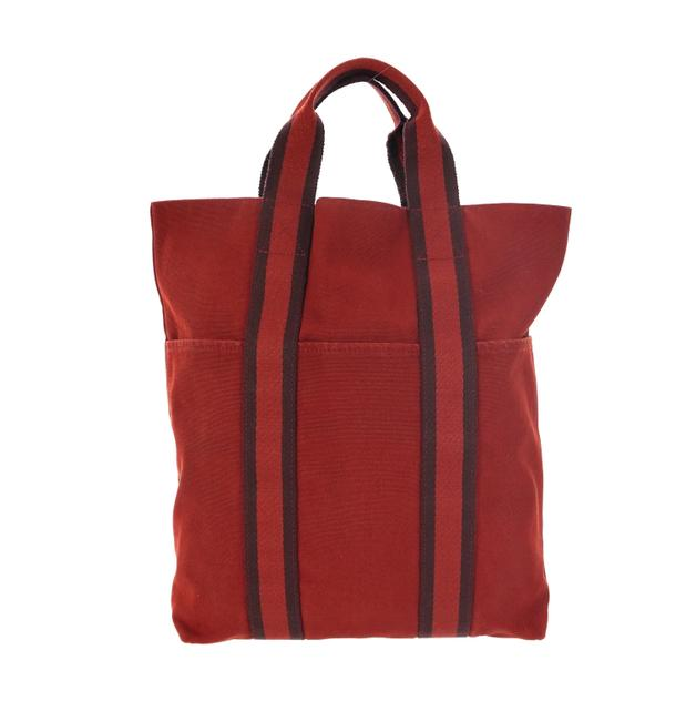 Item - Fourre Tout Bag Vintage Shopper Vertical Red Canvas Tote