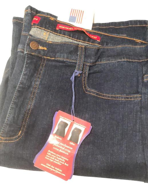 Item - Dark Blue Rinse Tummy Tuck Relaxed Fit Jeans Size 18 (XL, Plus 0x)