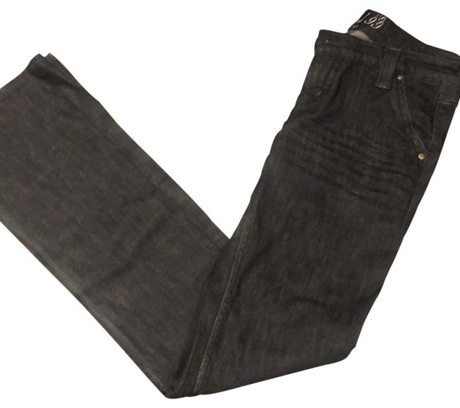 Item - Light Black Faded Dark Rinse Flap Pocket Boot Cut Jeans Size 2 (XS, 26)