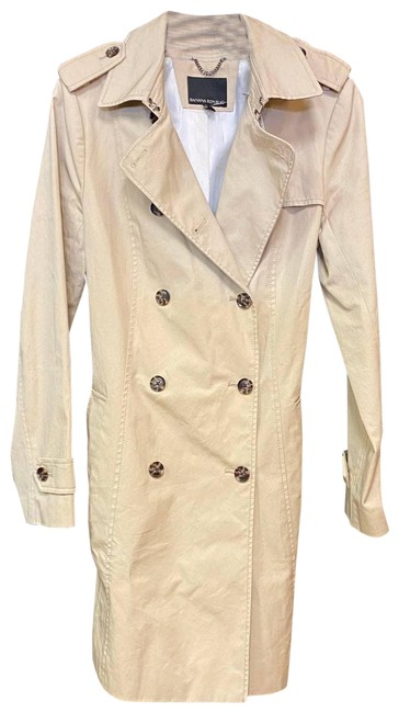 Item - Brown Trench Coat Medium Activewear Outerwear Size 8 (M)