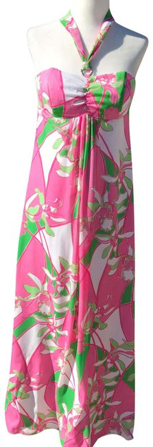 Item - Pink Green White Jillie Long Casual Maxi Dress Size 0 (XS)