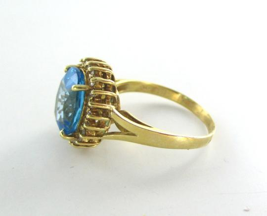 Other 14KT SOLID YELLOW GOLD RING 22 DIAMONDS .22 CARAT SZ 7 TOPAZ WEDDING BAND 3.7 G