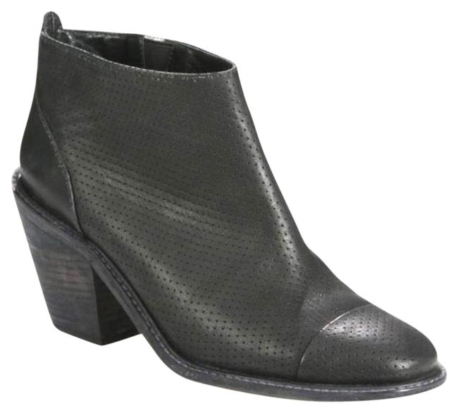 Item - Black Huron Perforated Leather Ankle Boots/Booties Size US 8 Regular (M, B)