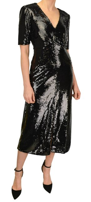 Item - Black Eden Sequined Embellished Midi Mid-length Night Out Dress Size 2 (XS)