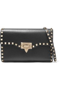 Item - The Rockstud Small Textured-leather Shoulder Bag