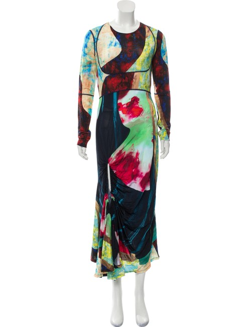 Item - Multiple 36 Fr (6) Collage Print Sleeve Maxi Long Night Out Dress Size 4 (S)
