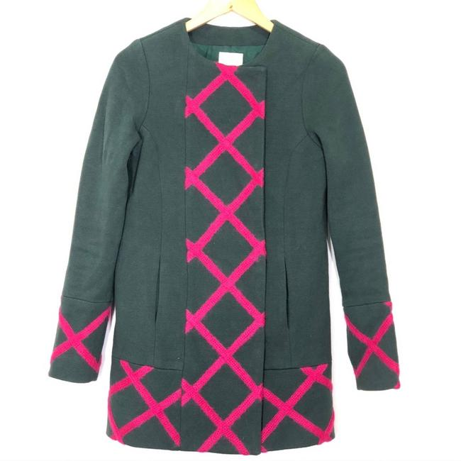 Item - Green Elevenses Tamarisk Lattice Coat Size 4 (S)