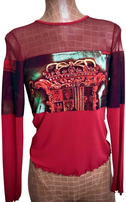 Item - Rncf2905 Red Black Gold Green Top