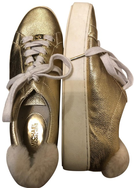 Item - Gold Leather Sneakers Size US 8.5 Regular (M, B)