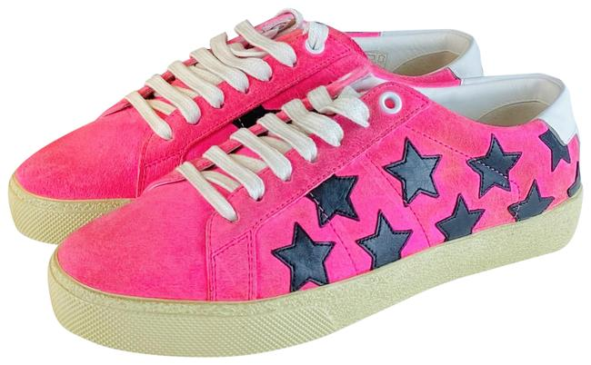 Item - Leather Stars Sneakers Formal Shoes Size EU 37 (Approx. US 7) Regular (M, B)