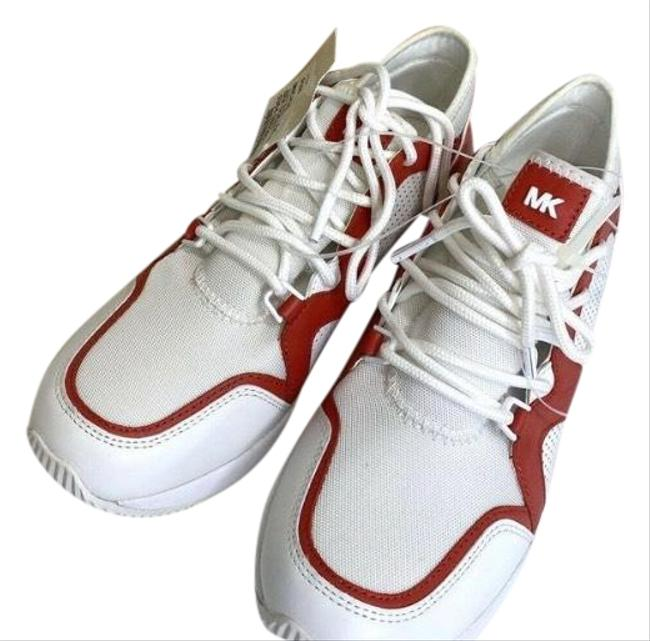 Item - Red & White Sneakers Size US 9.5 Regular (M, B)