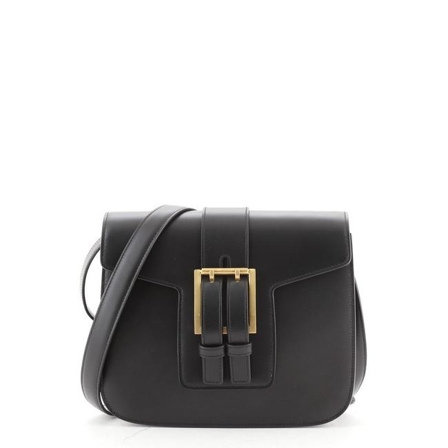 Item - Buckle Small Black Leather Messenger Bag