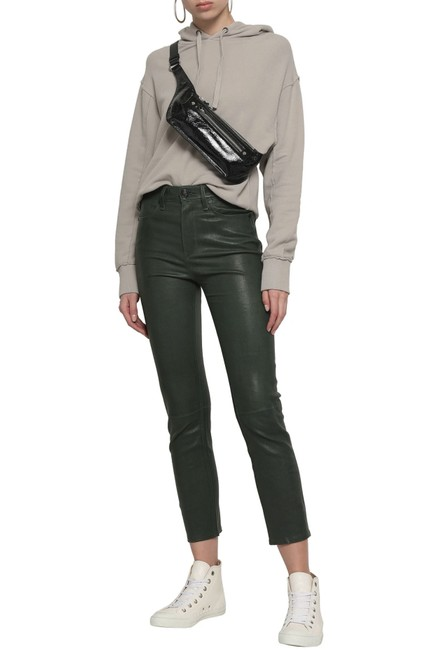 Item - Leaf Green Faux Leather Cropped Pants Size 26 (2, XS)