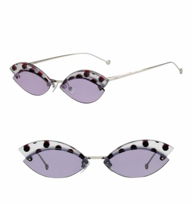 Item - Silver Lilac Defender Butterfly Sunglasses