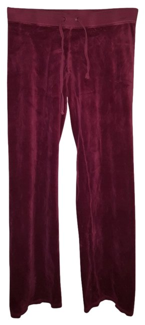 Juicy Couture Athletic Pants Burgandy