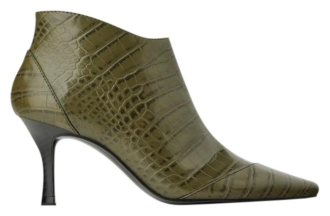 Item - Green Heeled Animal Print Ankle Embossed 3119/001 Boots/Booties Size US 7.5 Regular (M, B)