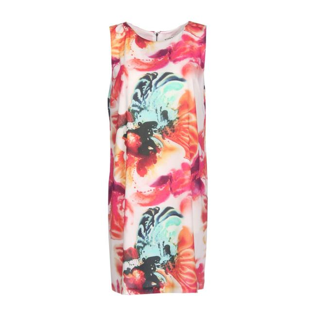 Item - Multicolor Abstract Pigment Short Casual Dress Size 2 (XS)