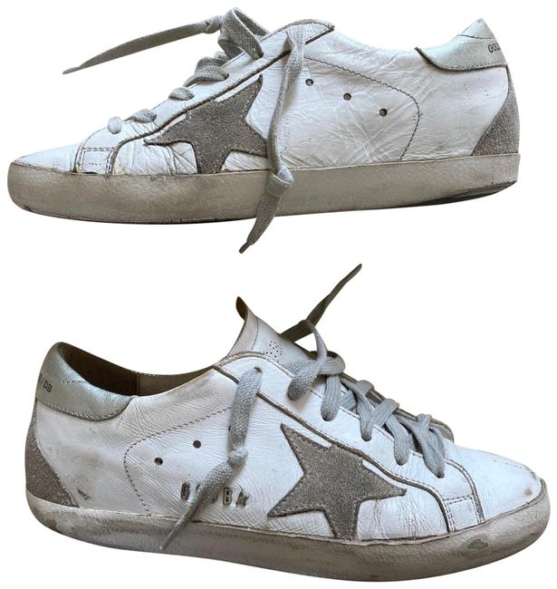 Item - White Tan Gray Superstar Well Loved Sneakers Size EU 37 (Approx. US 7) Regular (M, B)