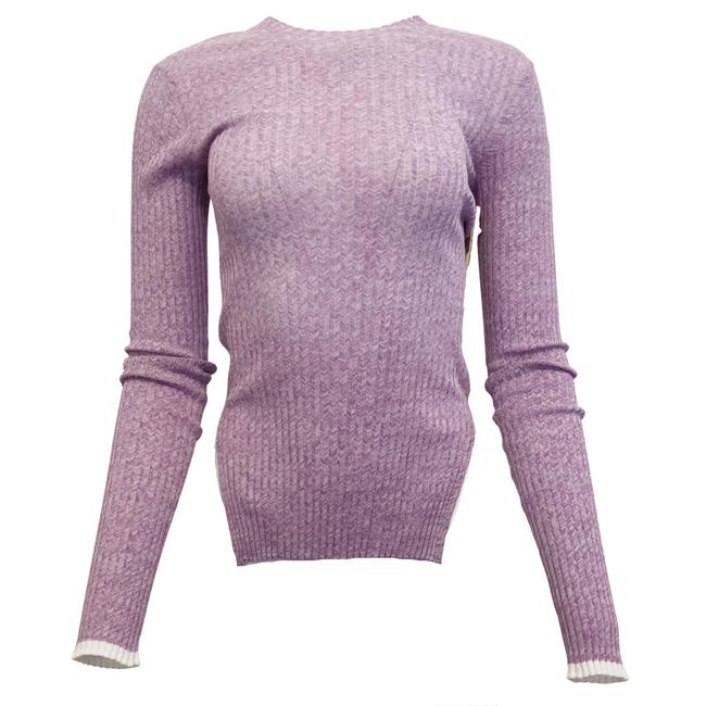 Item - Ribbed Cotton Purple Sweater