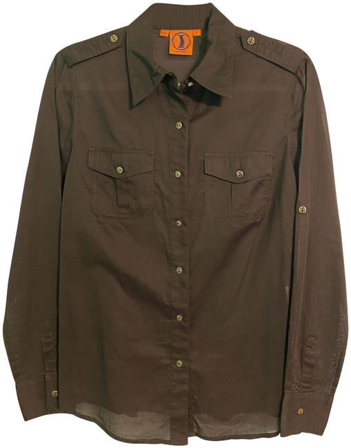 Item - Brown Button Front Button-down Top Size 8 (M)