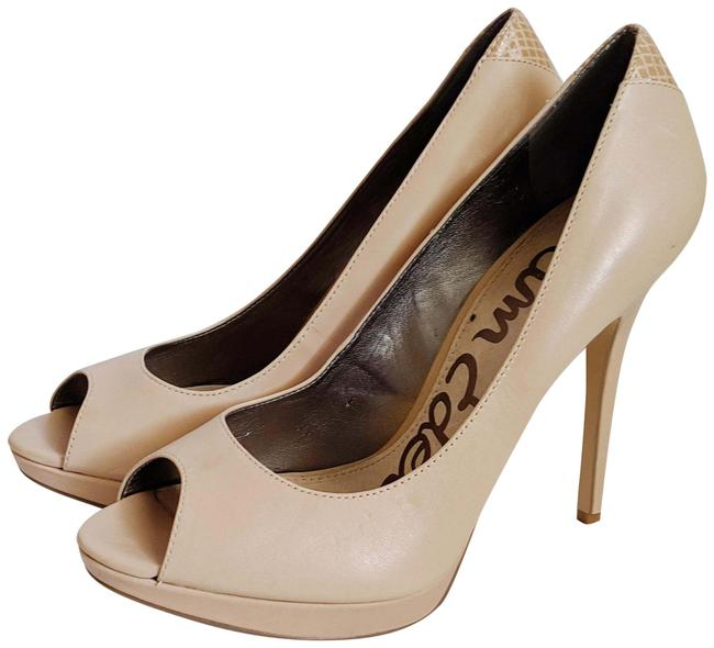 Item - Nude Ella Peep Toe Pumps Size US 9 Regular (M, B)