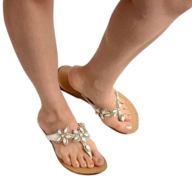 Item - White New Odette Jewel Crystal Sandals Size US 8 Regular (M, B)