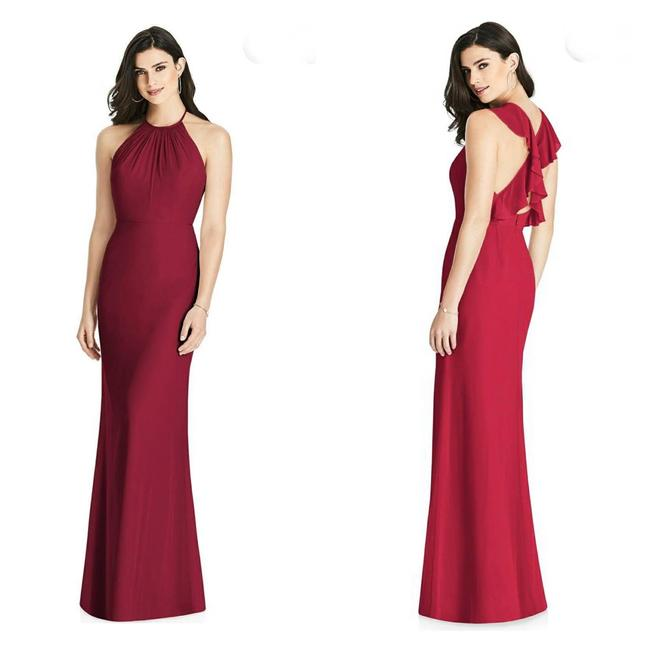 Item - Red Ruffle Sleeves Maxi 3022 Formal Dress Size 2 (XS)