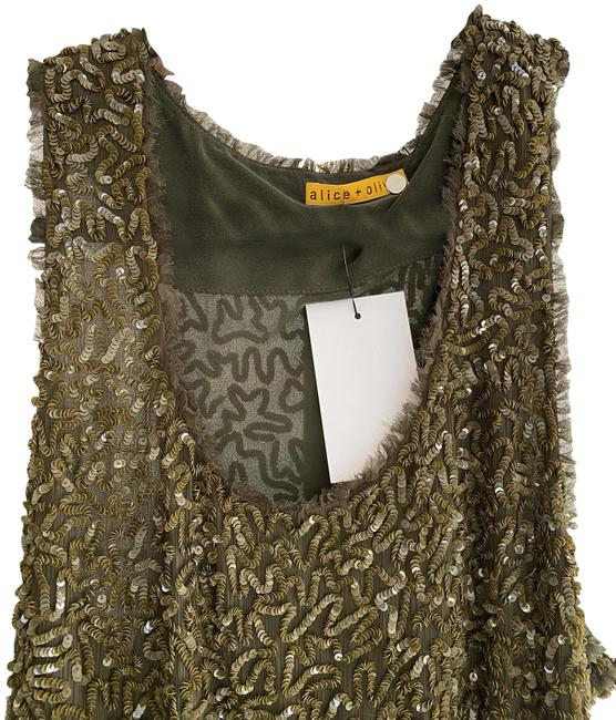 Item - Olive W Sheer Stretchy W/Sequin Detail Short Night Out Dress Size 8 (M)