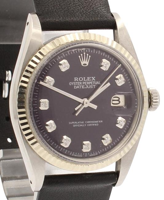 Item - Purple Mens Vintage Oyster Perpetual Datejust 36mm Diamond Dial Watch