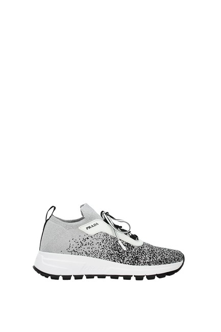 Item - Silver Women Sneakers Size EU 37.5 (Approx. US 7.5) Regular (M, B)