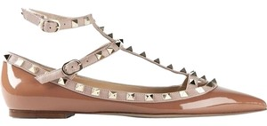 Valentino Leather Nude Brown patent 35(EU) NWT Flats