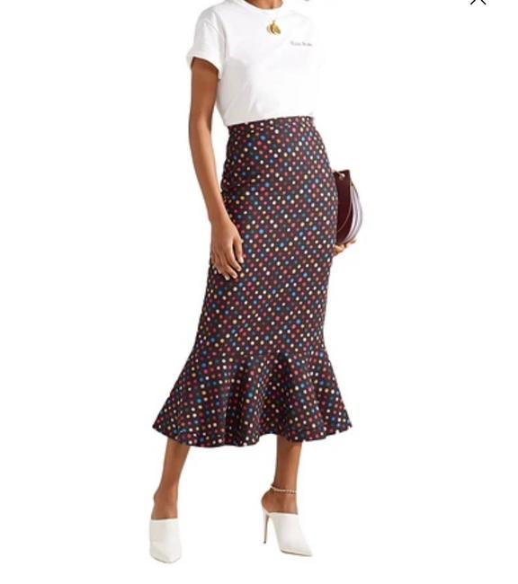 Item - Black with Colored Polka Dots Woven Skirt Size 4 (S, 27)