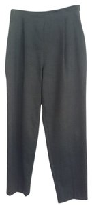 Oscar de la Renta Trouser Pants Charcoal Black