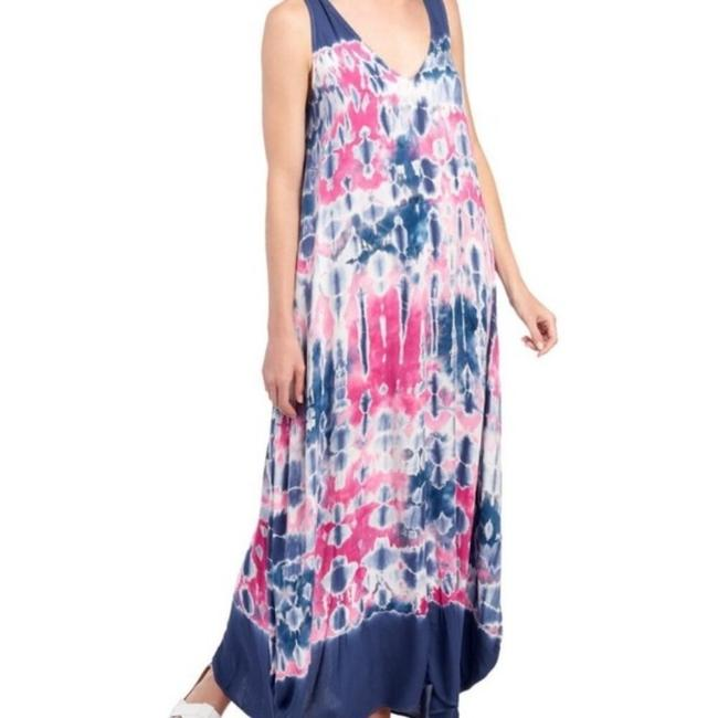 Item - Pink and Blue Tie-dye Yfb Long Casual Maxi Dress Size 4 (S)