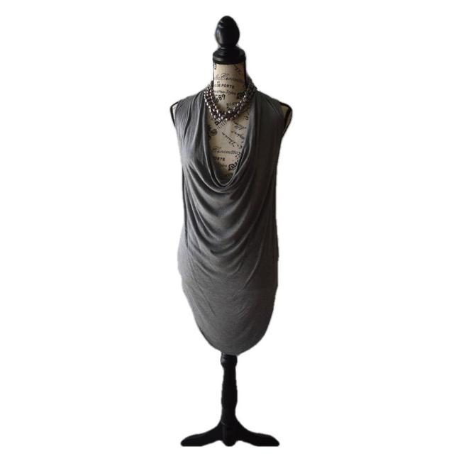 Item - Gray Nwot Draped Neck Small Blouse Size 4 (S)