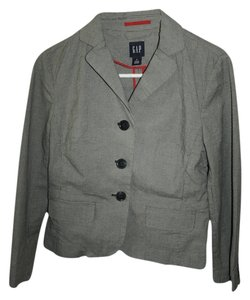 Gap Black And White Grey Blazer