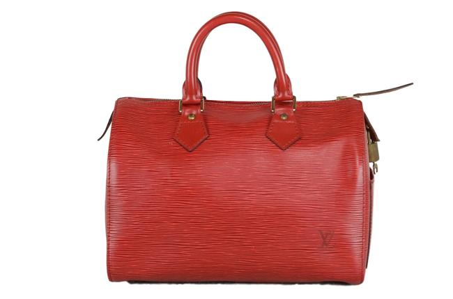 Item - Speedy 25 (Rivet Come Off) Red Epi Leather Tote