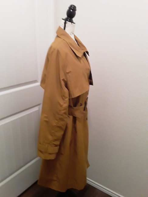 A New Day Dark Tan Double-breasted Coat Size 18 (XL, Plus 0x) A New Day Dark Tan Double-breasted Coat Size 18 (XL, Plus 0x) Image 3