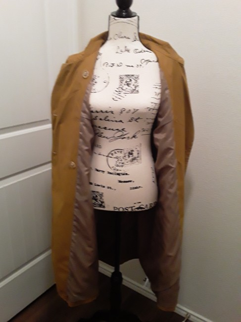 A New Day Dark Tan Double-breasted Coat Size 18 (XL, Plus 0x) A New Day Dark Tan Double-breasted Coat Size 18 (XL, Plus 0x) Image 5