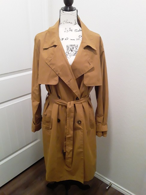 A New Day Dark Tan Double-breasted Coat Size 18 (XL, Plus 0x) A New Day Dark Tan Double-breasted Coat Size 18 (XL, Plus 0x) Image 6
