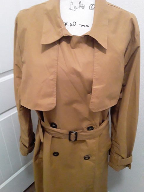 A New Day Dark Tan Double-breasted Coat Size 18 (XL, Plus 0x) A New Day Dark Tan Double-breasted Coat Size 18 (XL, Plus 0x) Image 7