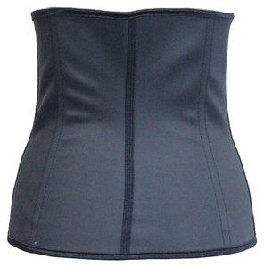 Black Women Latex Rubber Waist Trainer Cincher Underbust Body Shaper Shapewear 2X-Large 10-12