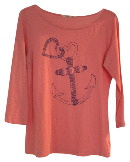 Preload https://item2.tradesy.com/images/old-navy-coral-nautical-tee-shirt-size-8-m-2834086-0-0.jpg?width=400&height=650