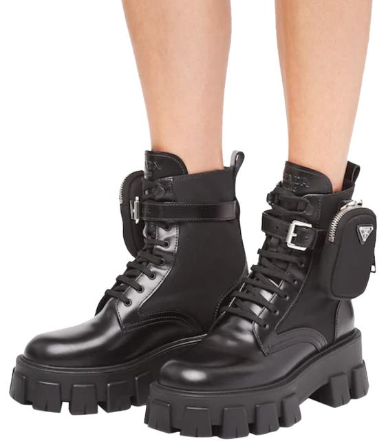 Item - Black Military-inspired Leather Combat Boots/Booties Size EU 39.5 (Approx. US 9.5) Regular (M, B)