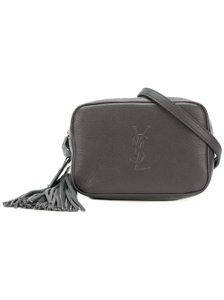 Item - Loulou Belt Lou Monogramme Textured-leather Red Gray Leather Cross Body Bag