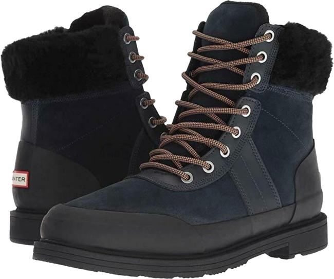 Item - Navy/Black Commando Suede Shearling Boots/Booties Size US 7 Regular (M, B)